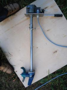 Лодочный электромотор своими руками из шуруповерта